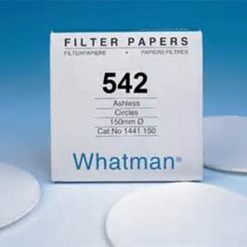 Photo of Whatman 1542-185 Grade 542 18.5cm Quantitative Filter Paper