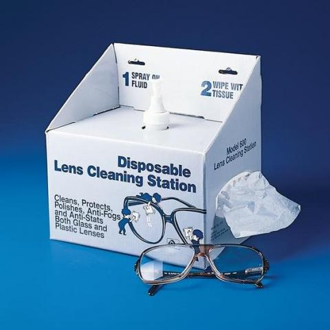 Photo of Disposable Lens Cleaning Station