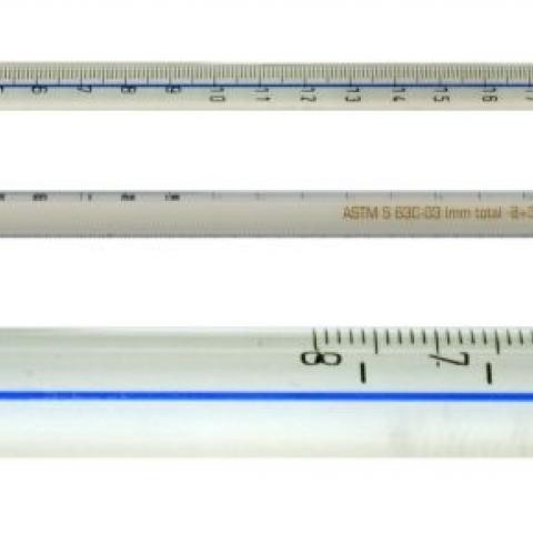 Photo of ASTM Precision Thermometers, Blue Spirit Filled (Non-Mercury).