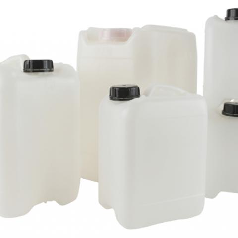Photo of Dynalon Baritainer® Jerry Cans with Caps, HDPE/QUORAL® Barrier Resin