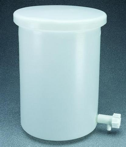 Photo of Nalgene 54102 Lightweight Cylindrical HDPE Tank with Cover and Spigot